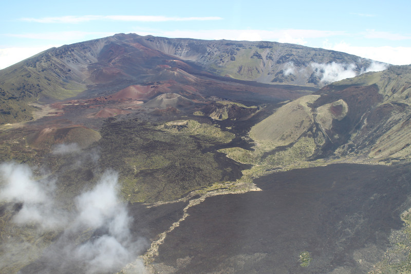 Crater action on Mt. Haleakala.