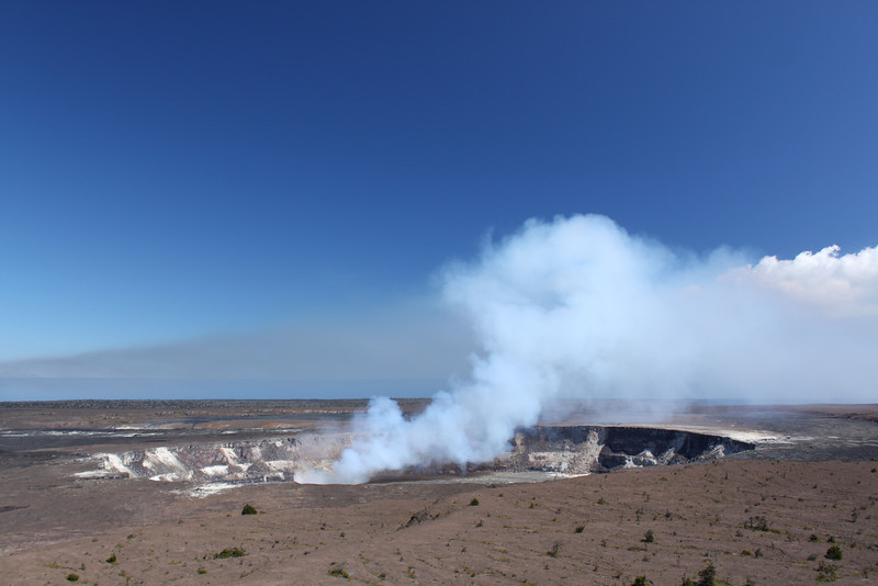 Halema`uma`u Crater venting on July  27.