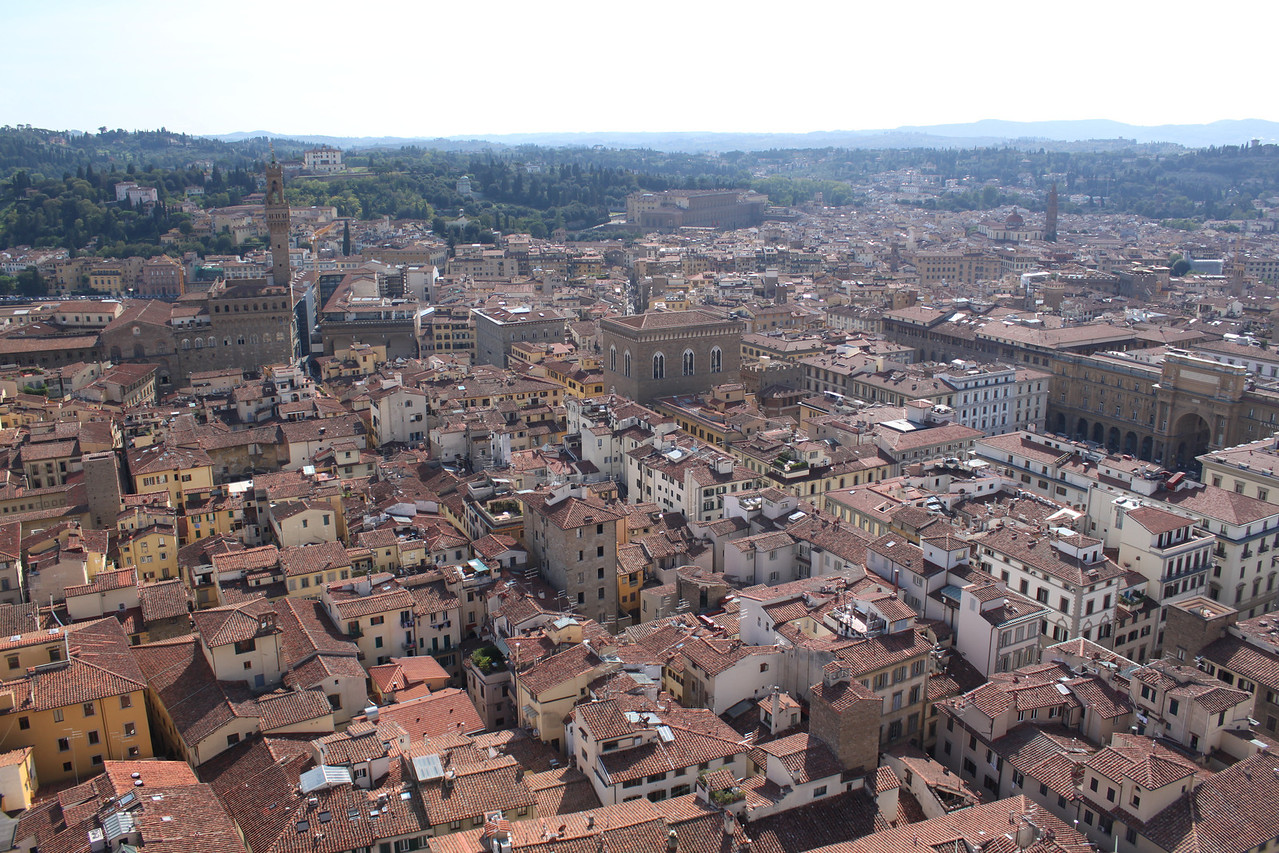 Florence city views from the Duomo.