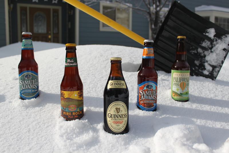(L to R) Favorites: Sam Adams Latitude 48 IPA, Kona Fire Rock Pale Aloe, Guinness Extra Stout, Sam Adams Octoberfest and Hanger 24 Spring Beer!