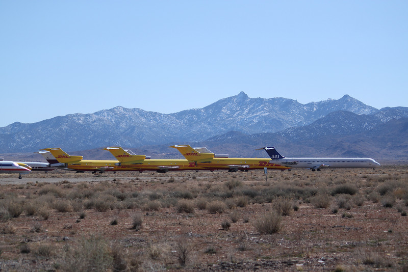 Kingman airport preserves these planes in ideal, dry weather.