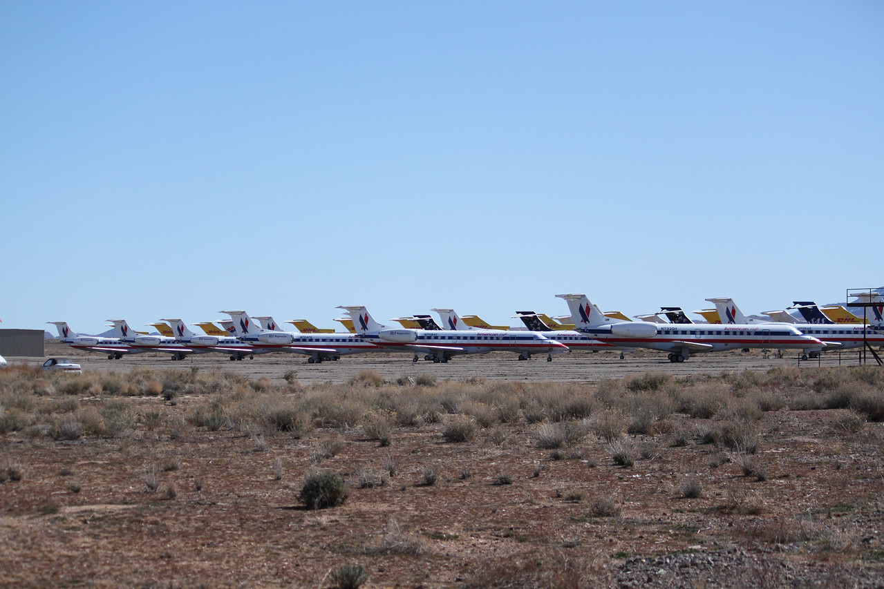 American Airlines commuter planes boneyard.