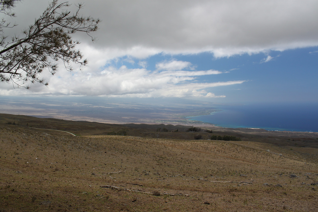 Looking south toward the Waikoloa coast from Kohala mountains.