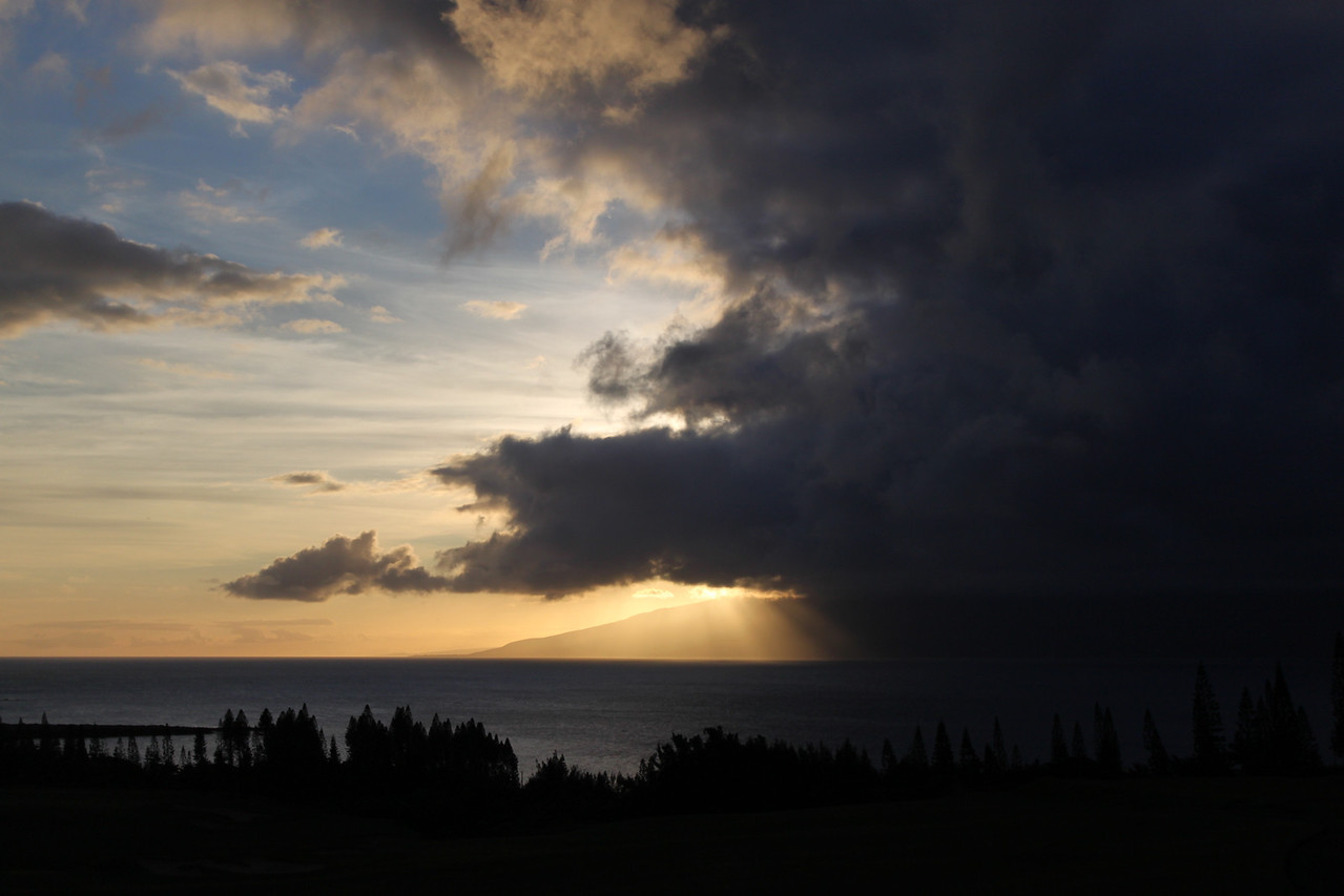 Sunset at Plantation House, Maui.