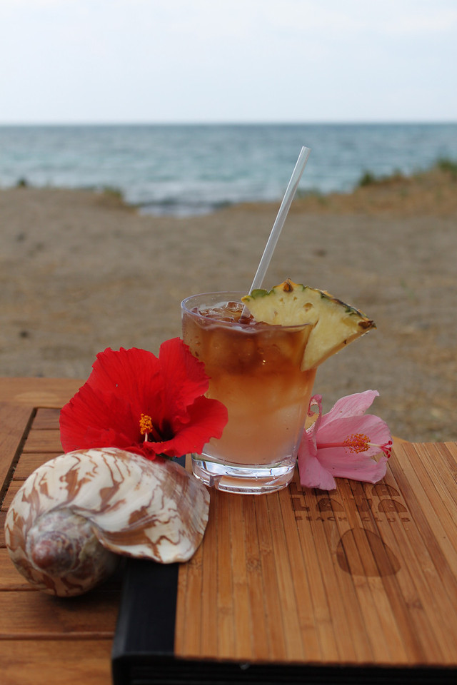 Hibiscus Mai Tai at Lava Lava Beach Club, Anaehoʻomalu bay, July 8.