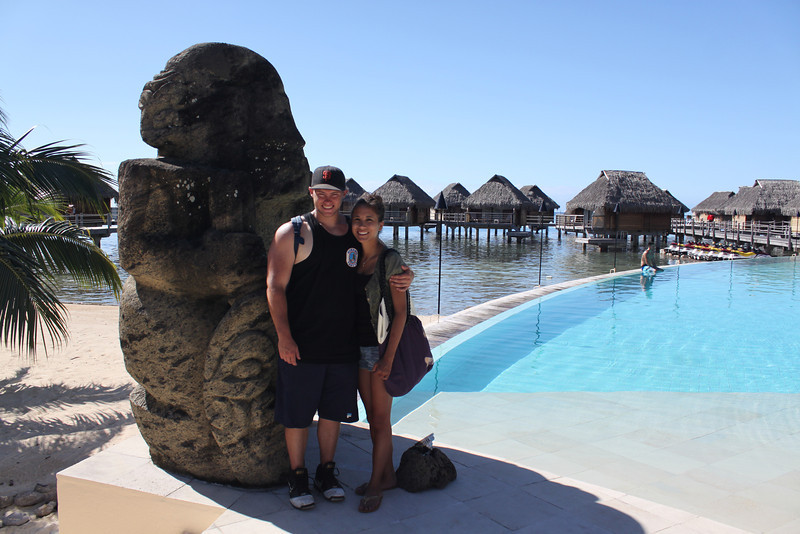 Exploring the Moorea Pearl resort.