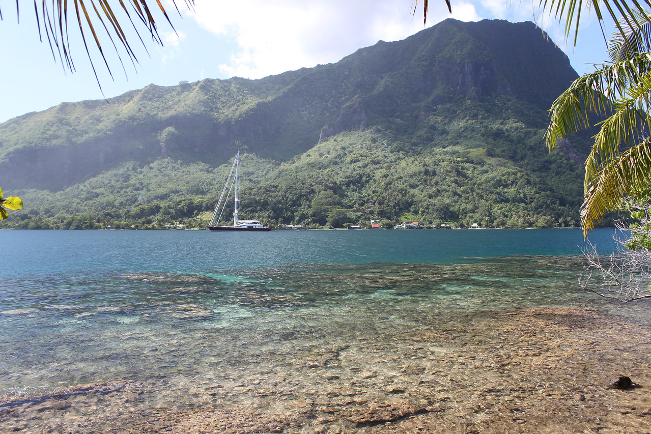 Opunohu Bay, that was a BIG sailboat.