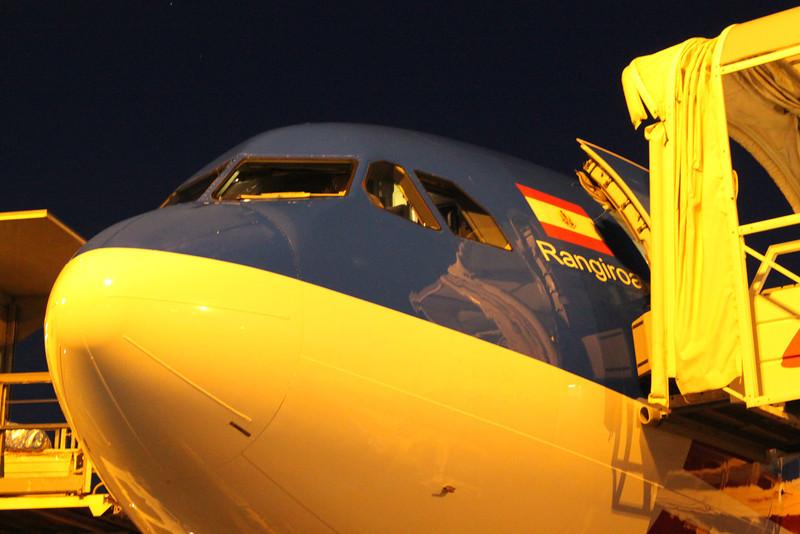 Our plane's name - Rangiroa. We have to get back to 'Rangi' too.