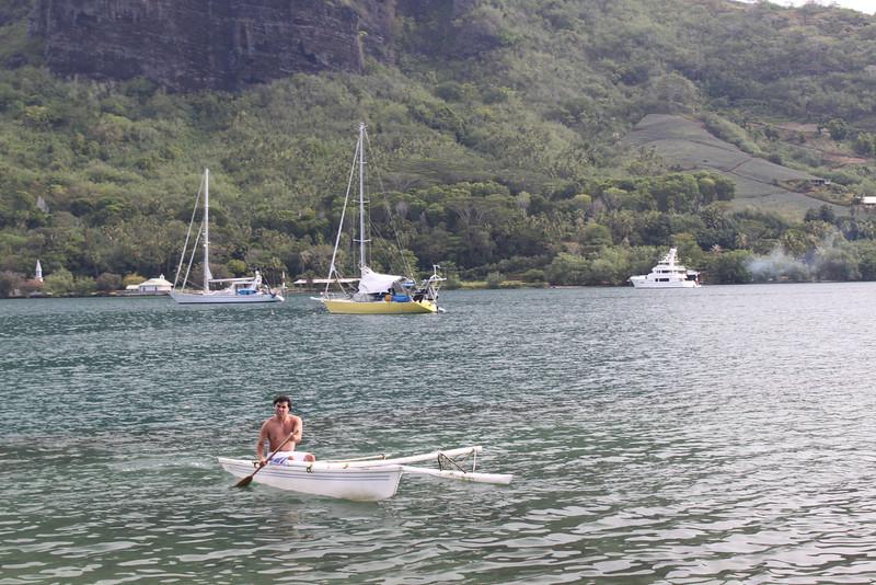 Tahitian paddler.