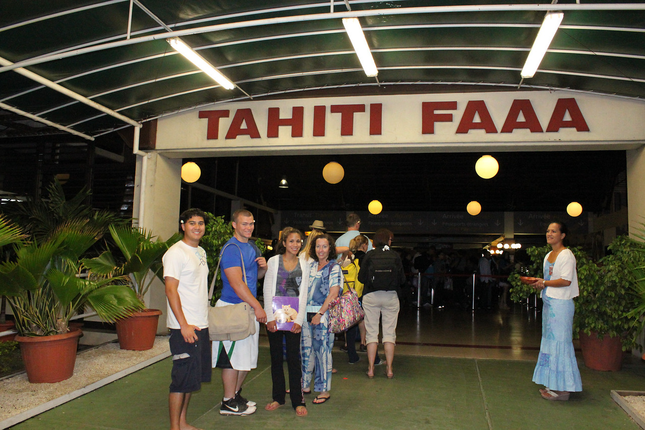 Faa'a airport.