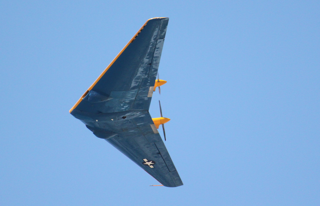 IMG_1457 Northrop 9-MB, blue bottom and yellow top to tell the difference when seen in flight.