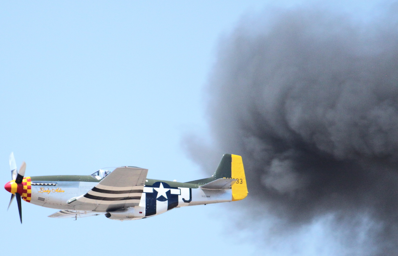 "IMG_1569 P-51 ""Lady Alice"" and simulated re-enactment of D-Day invasion (June 6, 1944)."