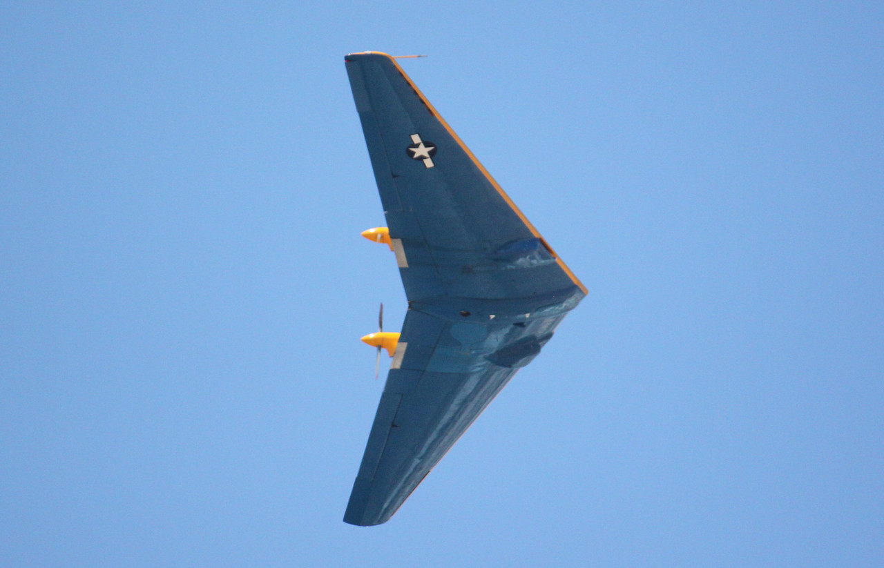 IMG_1442 Northrop 9-MB, blue bottom and yellow top to tell the difference when seen in flight.