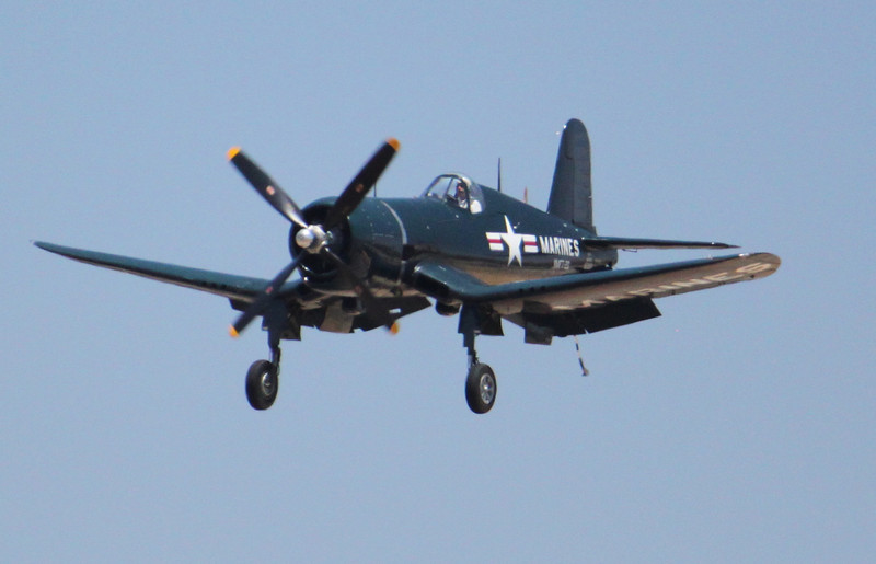 IMG_1311 F4-U Corsair low and slow, carrier approach.