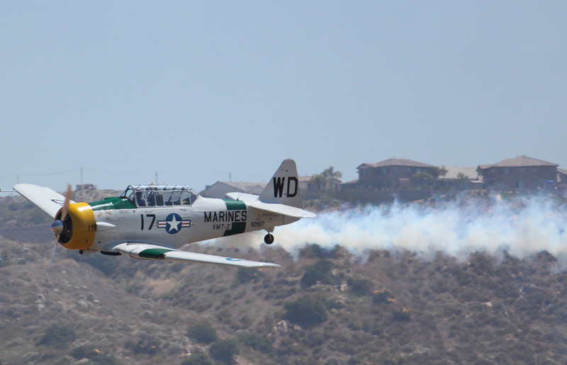 IMG_0856 Texan T-6 smoke on!