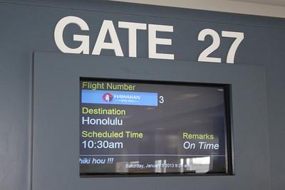 Winter departure on HA003!