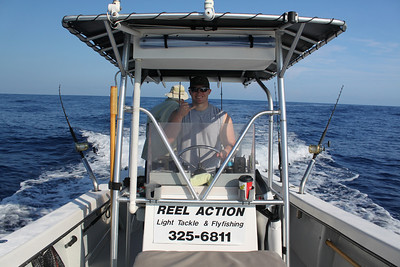 Reef fishing with Reel Action ... not our best day.