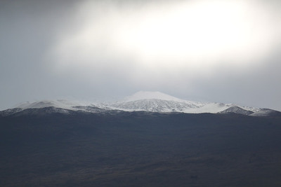 First substantial snowfall on Mauna Kea, January 29, 2014.