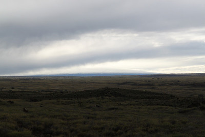 Mauna Loa on January 29th, hard to see but the snow level is about 9,000 feet.