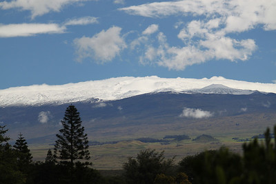 The sun is starting to clear and the view is spectacular of Mauna Kea.