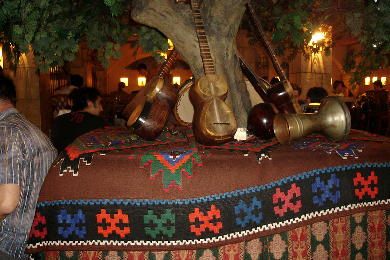 Interior of an Azerbaijanian restaurant we dined at, Shesh Besh.