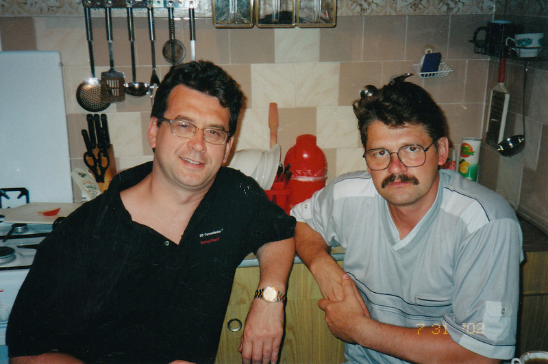 With Sasha Patrushev (2002)