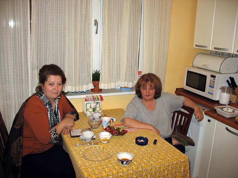 Lena Uliyanova & Susan. In our kitchen. (2007)