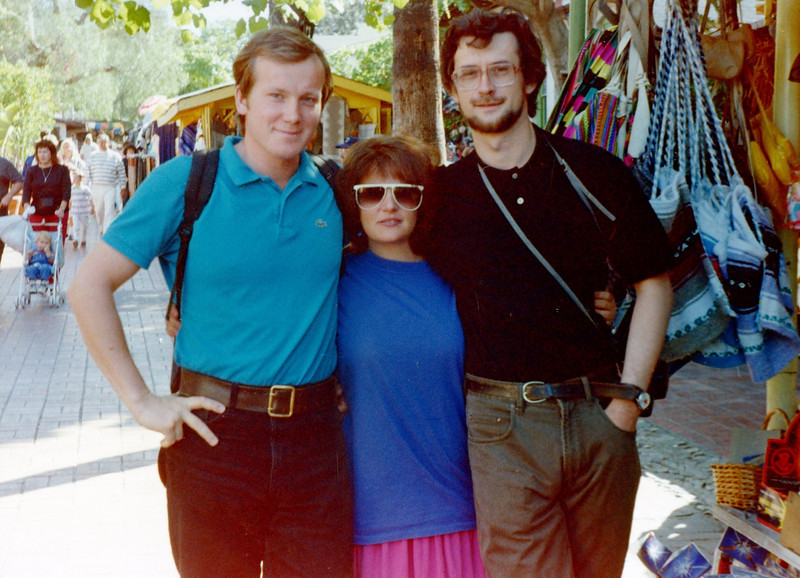 With two Russians - Oleg Siromsky & Rustem. L.A. (1991)