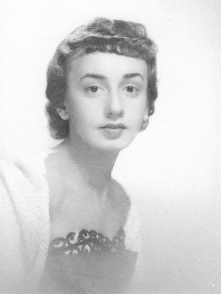 Mom. Dolores Eleanor [Blassberg] Gilman. Engagement photo. (1951)