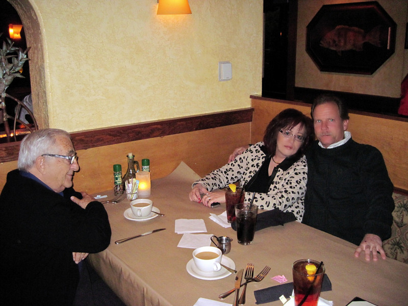 Dinner out with Julie, Mark & Dad. (12.2010)