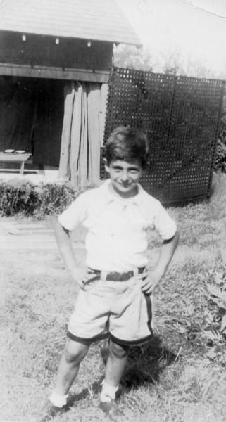 Dad, age 8, at Camp Brunonia. (1937)