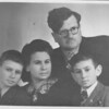 The Gerin's. Malkie, Richard and their sons, Alexander & Emanuel. Malkie was Grandpa Blassberg's sister.  (Lithunia, 1947)