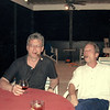 The brothers-in-law having a smoke. Rustem with sister Julie's husband, Mark. (2005)