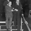 Herman Gilman, Puppy, with Chaim Weitzman, the first President of the State of Israel.