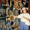 Mom shopping in Marrakech.