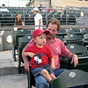 With Dad (Mark) at my first ballgame.