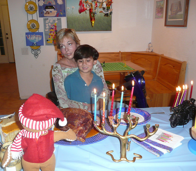 My sister Cindy & Alexander. Chanukah 2007. One month before Cindy died.