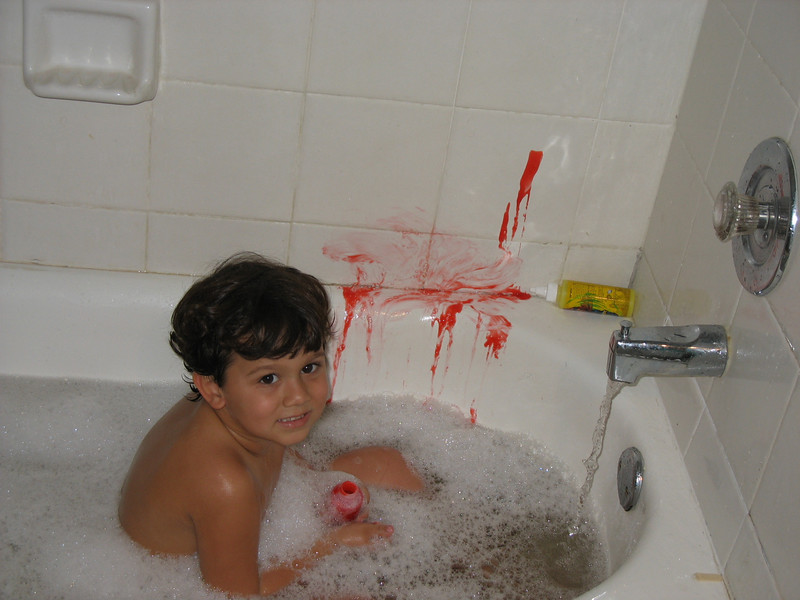Bubble bath paint - fun! (2007)