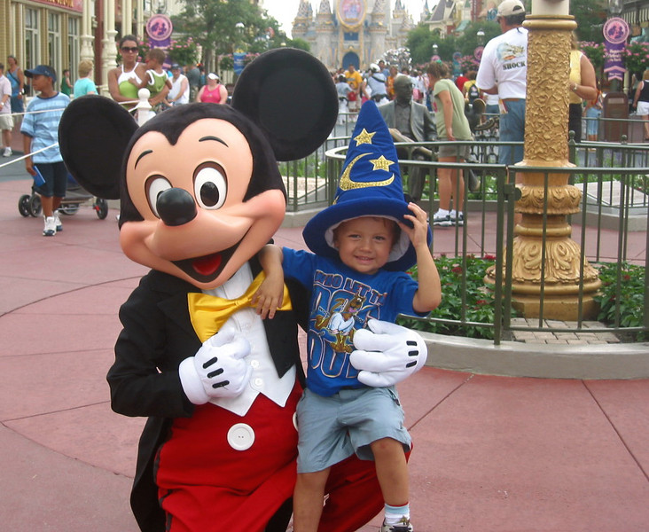 Requisite photo with Mickey.