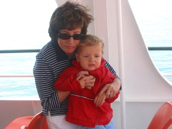 Boating with Mom on Cape Cod.