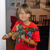 Joshua with his New Year's Eve lobster - the Devore household tradition. (12.31.10)