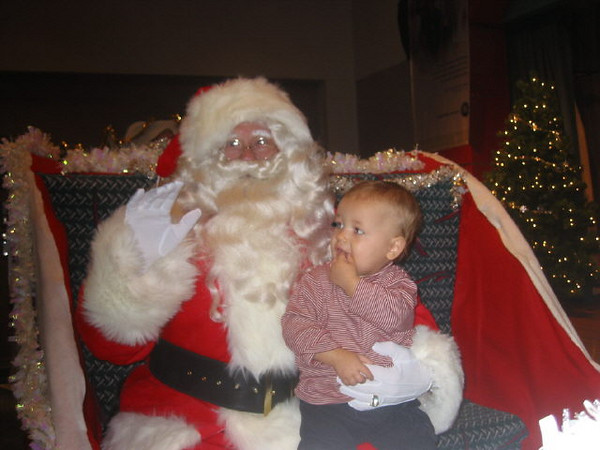With Santa 2004.