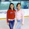 Rustem's niece, Nastiya (right) iceskating with a friend in Ashgabat. (2006)