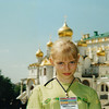 Anya at the Kremlin while in Moscow for the International Youth Games. She was a member of Turkmenistan's Gymnastic Team. (2002)