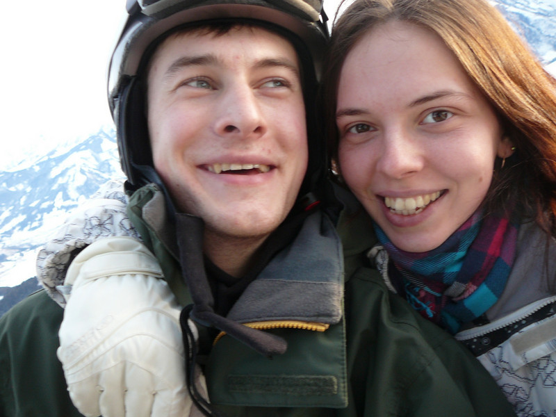 Our niece, Nastiya, with her boyfriend, Alyosha. Austria (01.2010)