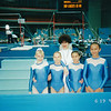 Anya (left) with her team mates & coach. International Youth Games. Moscow (2002)