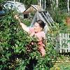 Mom in her garden. (1994)