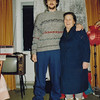 Rustem with Mom who's wearing the boots we brought her from the States. (11.1991)