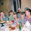 Ashgabat family. Great Aunt, Galina Petrovna, Nastiya, Anya, Ivan, Galya. Ashgabat (09.1993)