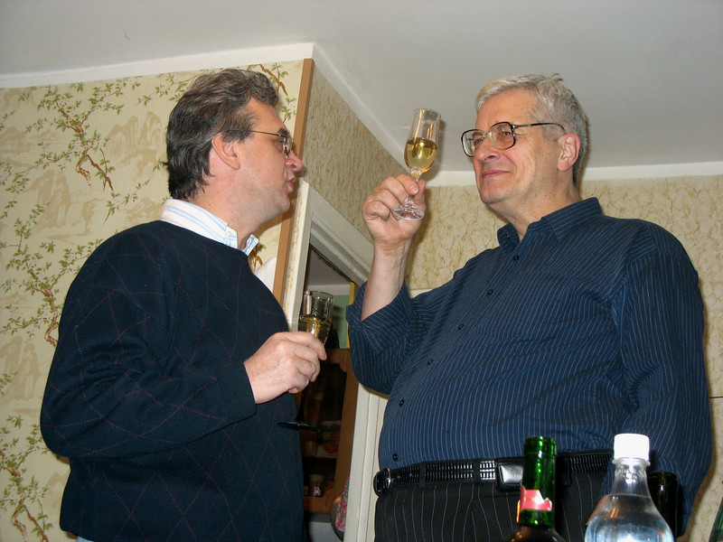Rustem & his brother-in-law, Sasha, celebrating the New Years at Dasha's. (12.30.2007)